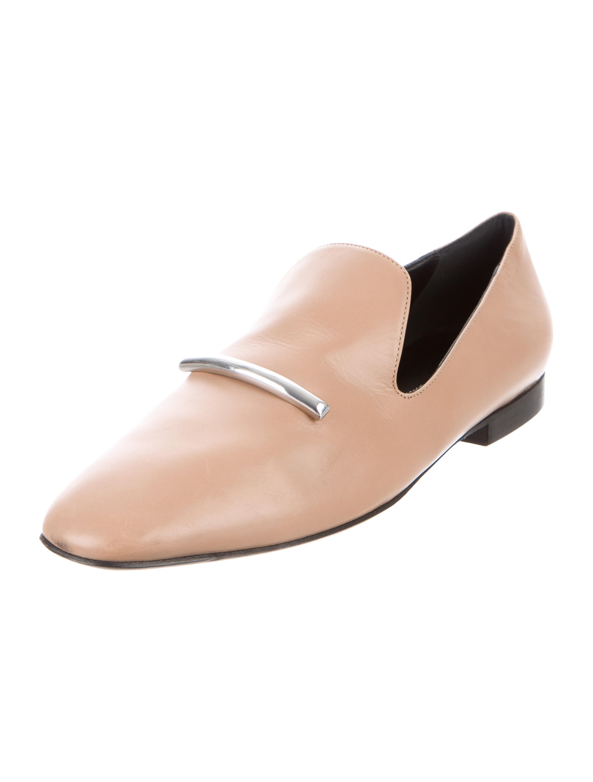 Via Spiga Leather Semi-Square-Toe Loafers sale manchester great sale w0IgcS