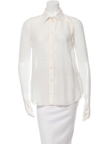 Veronica Beard Sleeveless Button-Up Top