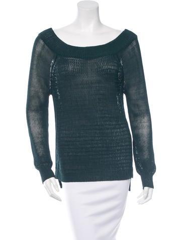 Veronica Beard Long Sleeve Rib Knit Sweater None