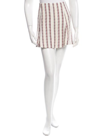 Veronica Beard Striped Mini Skirt None