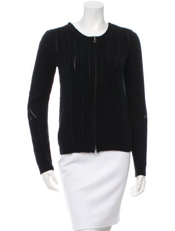 Veronica Beard Rib Knit Long Sleeve Sweater None