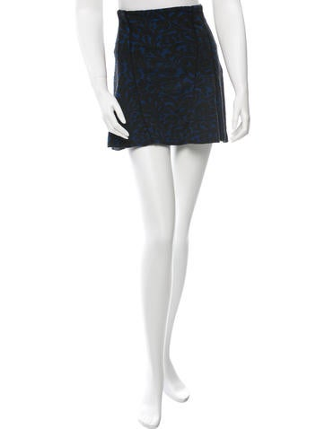 Veronica Beard Patterned Mini Skirt None
