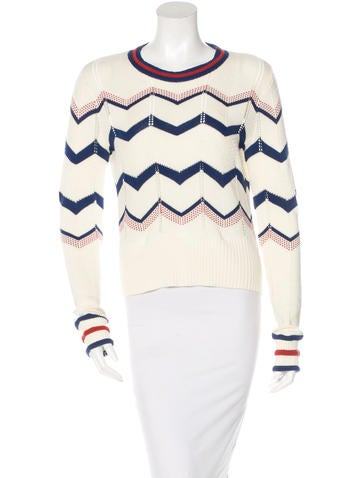 Veronica Beard High-Low Long Sleeve Sweater None