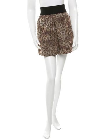 Veronica Beard Printed Mini Skirt None