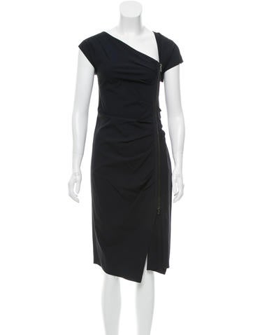 Veronica Beard Asymmetrical Midi Dress