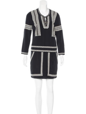 Veronica Beard Embroidered Shift Dress w/ Tags None
