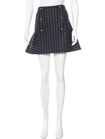 Veronica Beard Wool Mini Skirt None