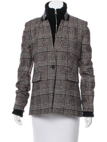 Veronica Beard Gingham Wool Coat None