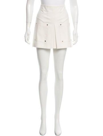 Veronica Beard Pleated Mini Skirt None