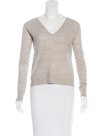 Veronica Beard Wool V-Neck Sweater None