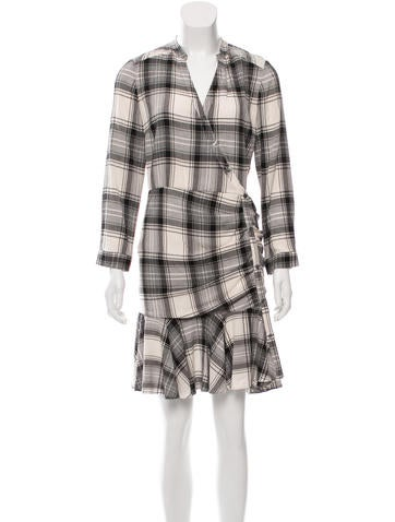 Veronica Beard Ruched Plaid Dress w/ Tags