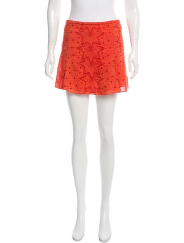 Veronica Beard Eyelet Flounce Skirt None