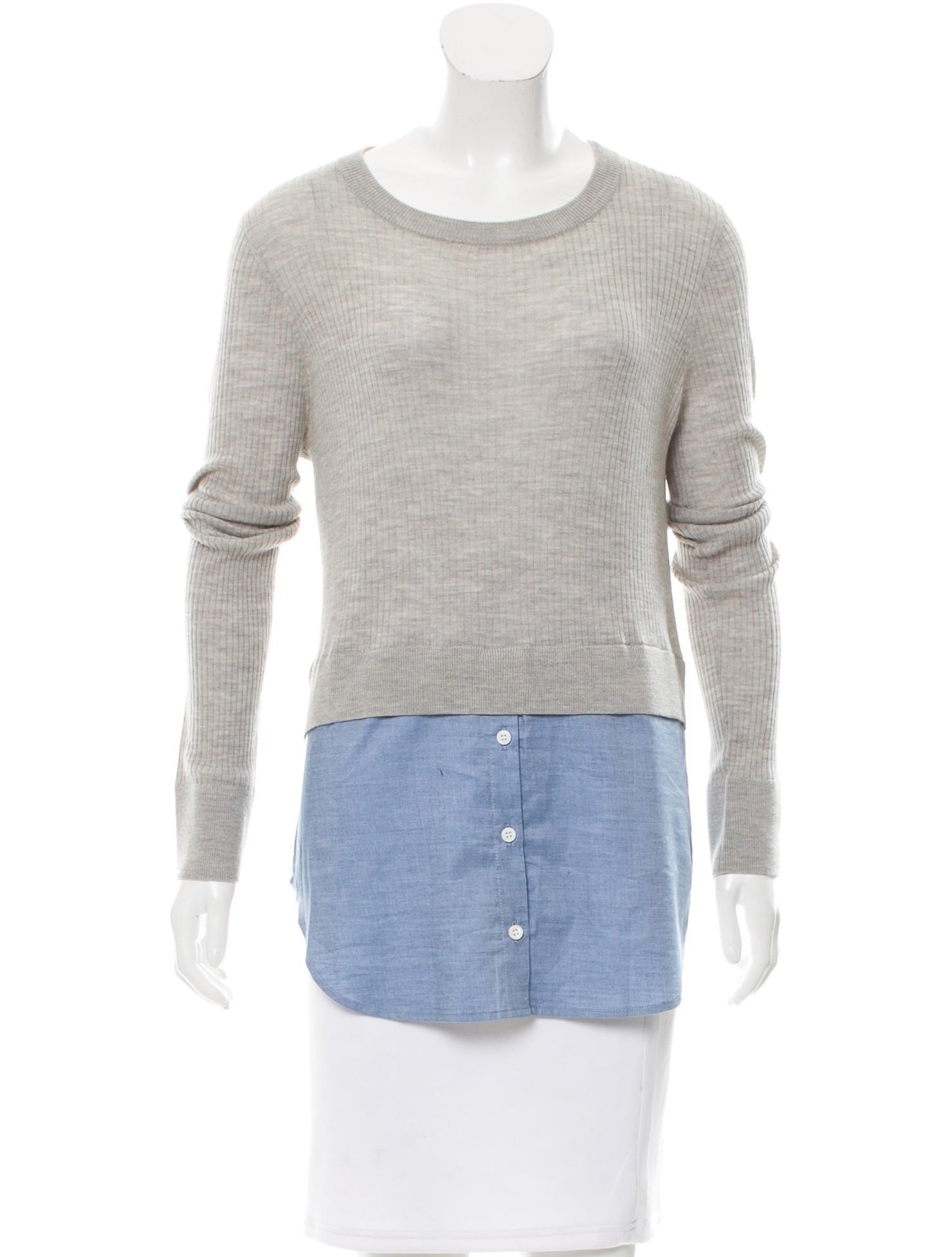 Veronica beard wool poplin top clothing wv123741 the for Best wool shirt jackets
