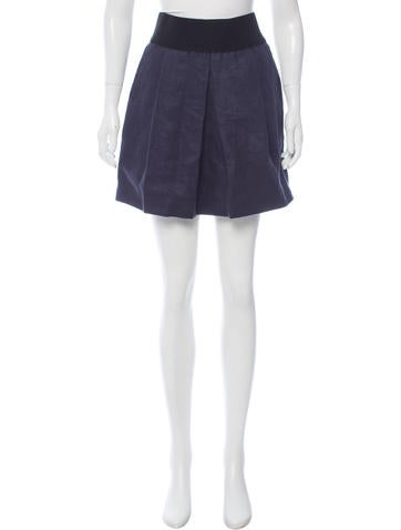Veronica Beard Linen A-Line Skirt None