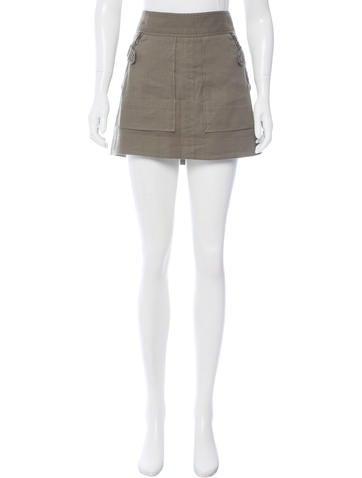 Veronica Beard Linen-Blend Mini Skirt None
