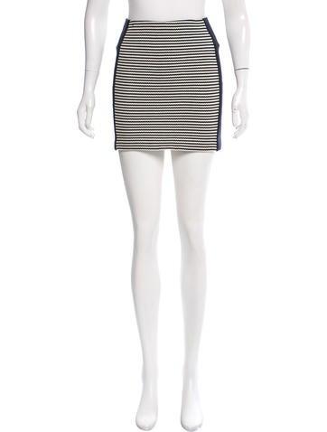 Veronica Beard Striped Mini Skirt None