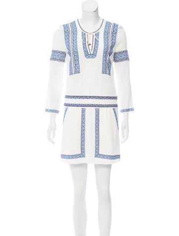 Veronica Beard Embroidered Mini Dress w/ Tags None