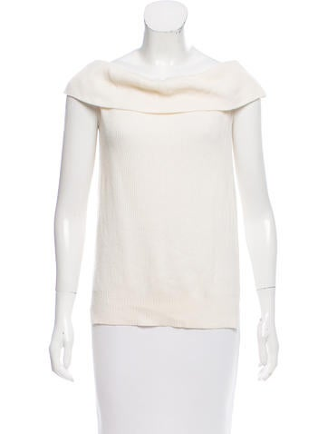 Veronica Beard Rib Knit Sleeveless Sweater None