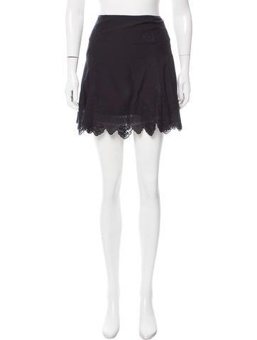 Veronica Beard Eyelet Mini Skirt w/ Tags None