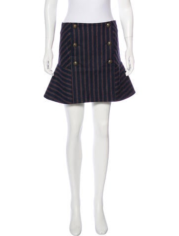 Veronica Beard Wool-Blend Mini Skirt None