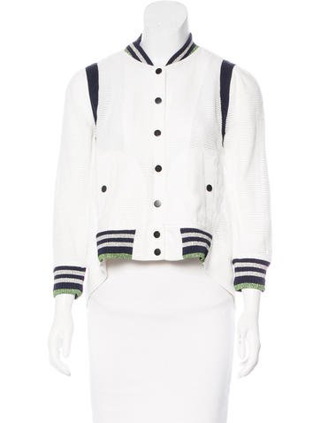 Veronica Beard High-Low Knit Jacket None