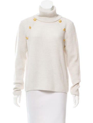 Veronica Beard Merino Wool Turtleneck Sweater None