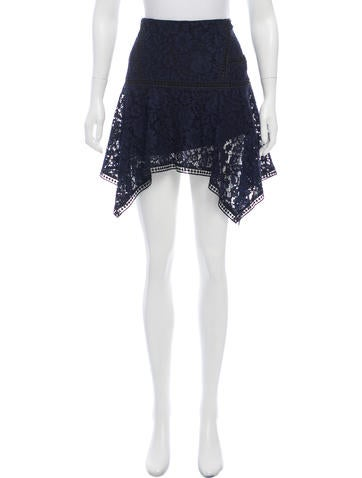 Veronica Beard Lace Mini Skirt None