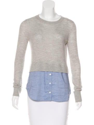 Veronica Beard Cati Layered Look Sweater None