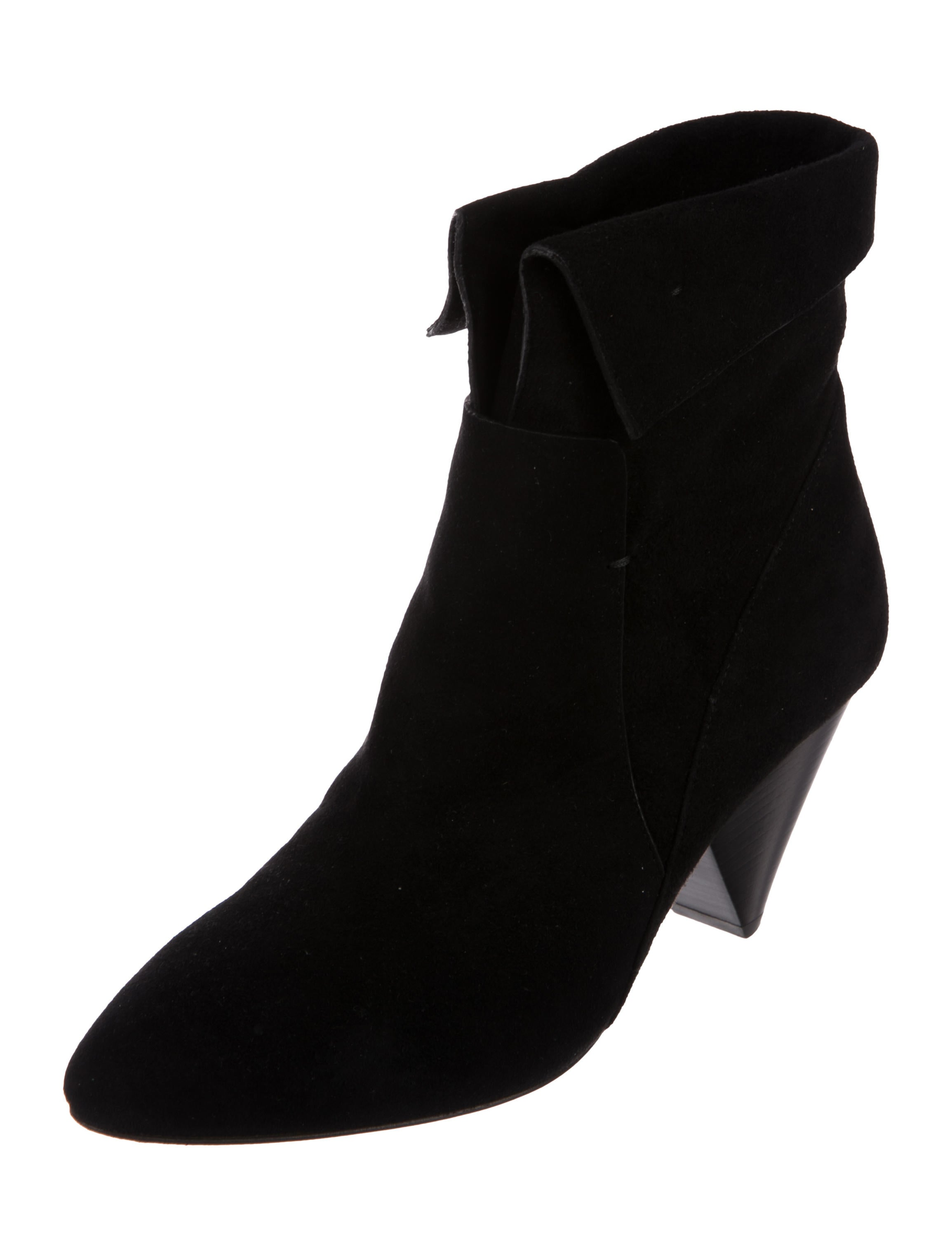 Veronica Beard Laurel Fine Suede Ankle Boots