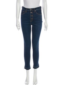 Veronica Beard Mid-Rise Skinny Leg Jeans