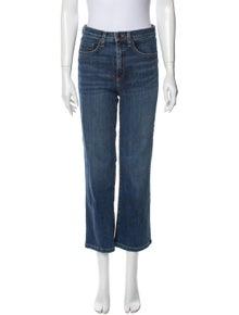 Veronica Beard High-Rise Straight Leg Jeans