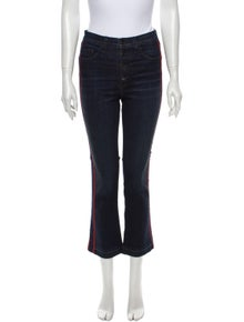 Veronica Beard Mid-Rise Straight Leg Jeans
