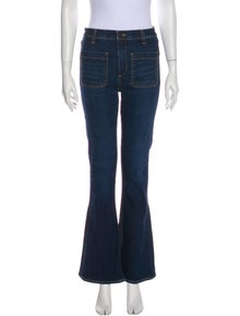 Veronica Beard High-Rise Flared Jeans