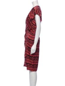 Veronica Beard Printed Knee-Length Dress