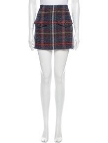Veronica Beard Plaid Print Mini Skirt