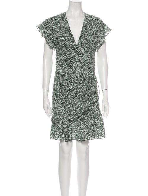 Veronica Beard Silk Mini Dress Green
