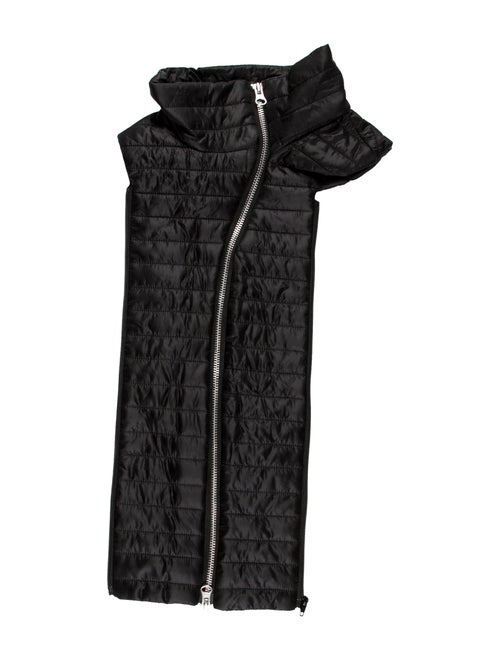 Veronica Beard Quilted Zip-Up Dickey Black