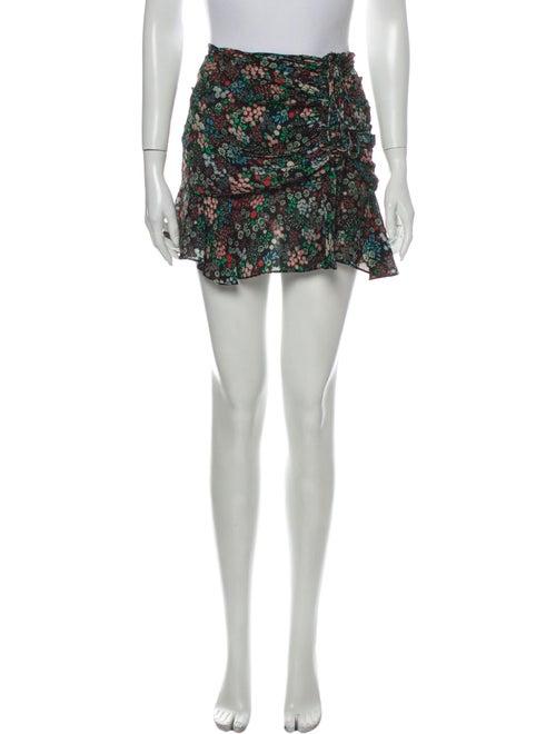 Veronica Beard Silk Mini Skirt Black
