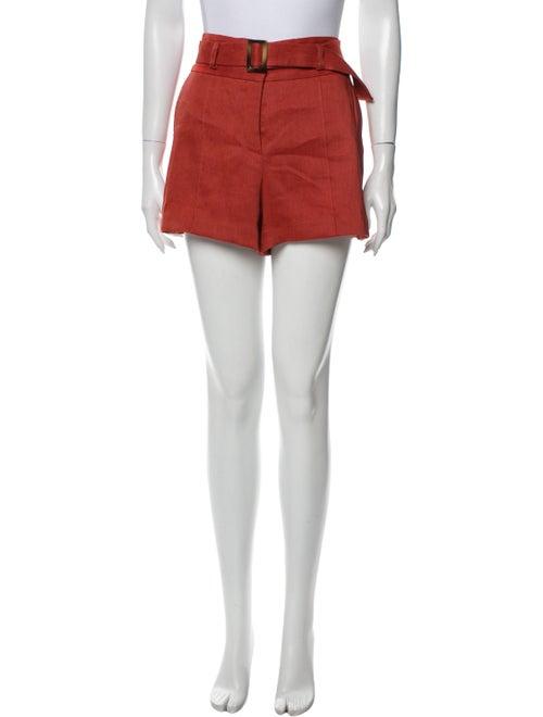 Veronica Beard Linen Mini Shorts w/ Tags Orange