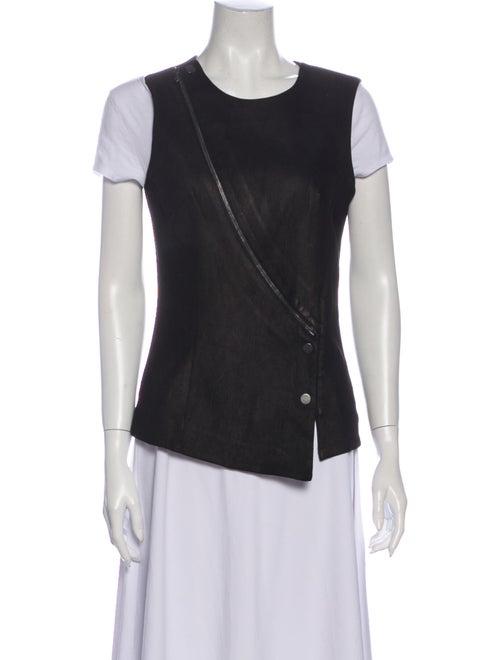 Veronica Beard Leather Vest Black