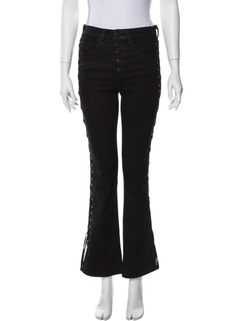 Veronica Beard Mid-Rise Wide Leg Jeans Black