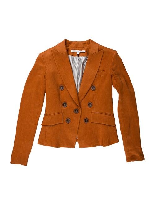 Veronica Beard Linen Blazer Orange
