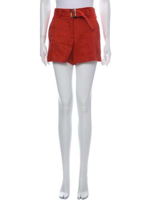 Veronica Beard Linen Mini Shorts Orange