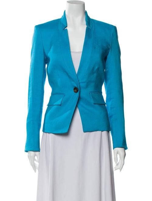 Veronica Beard Linen Blazer Blue