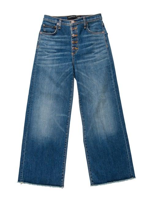 Veronica Beard High-Rise Wide Leg Jeans Blue