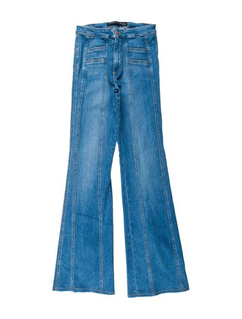 Veronica Beard Mid-Rise Wide Leg Jeans Blue