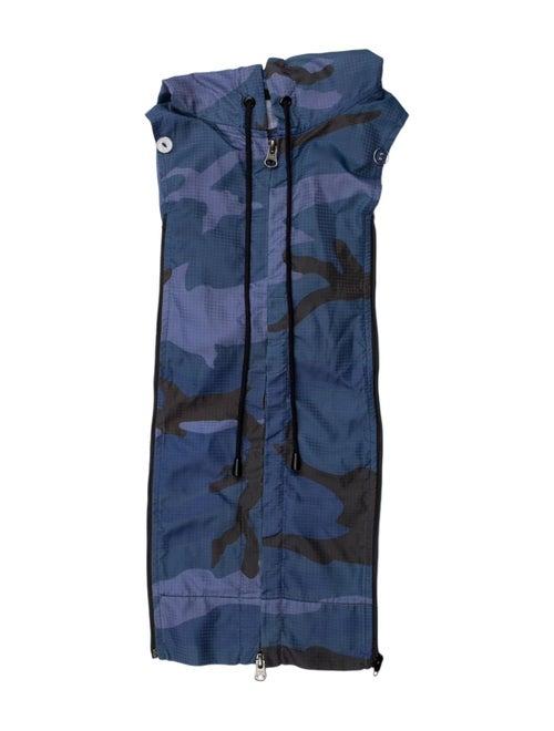 Veronica Beard Printed Nylon Dickie Blue