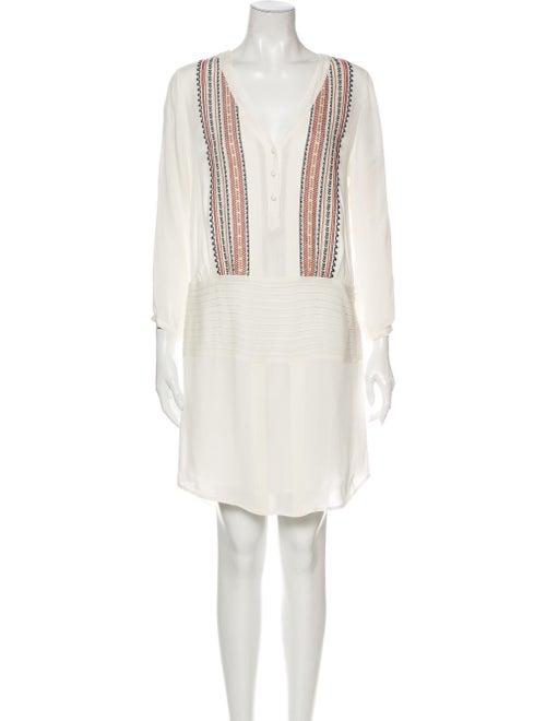 Veronica Beard Silk Knee-Length Dress White