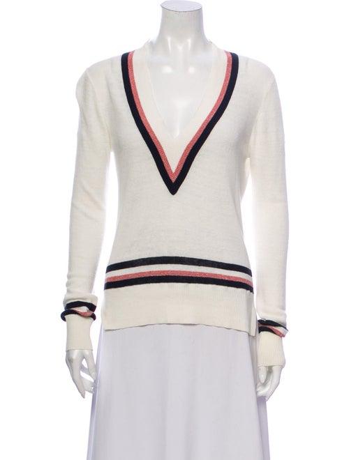 Veronica Beard Linen Striped Sweater