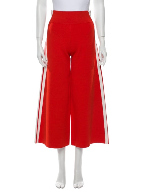 Veronica Beard Striped Wide Leg Pants Orange